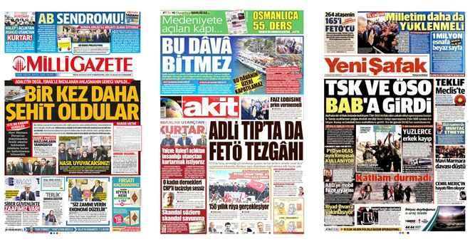 Mavi Marmara'yı sadece Milli Gazete gördü
