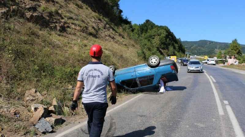 Zonguldak'ta iki otomobil çarpıştı: 4 yaralı