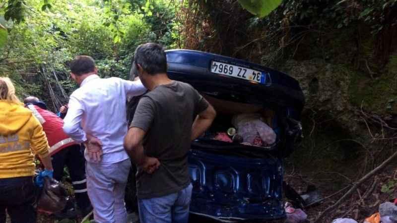 Zonguldak'ta otomobil dereye uçtu: 1 ölü, 2 yaralı