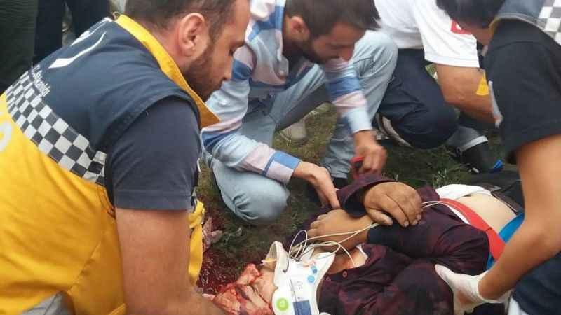 Zonguldak'ta yayaya çarpan motosikletin sürücüsü öldü