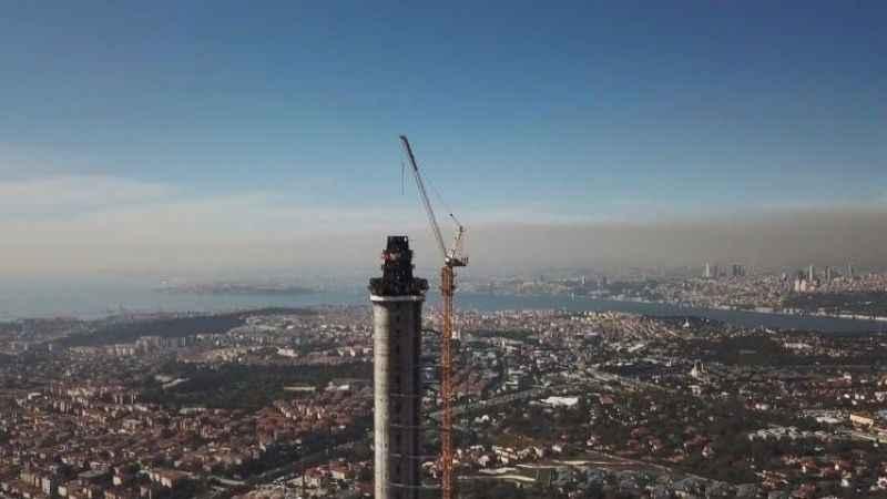 Çamlıca kulesi inşaatında korkunç kaza
