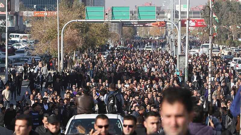 Süleymaniye'de binler meydanlara indi