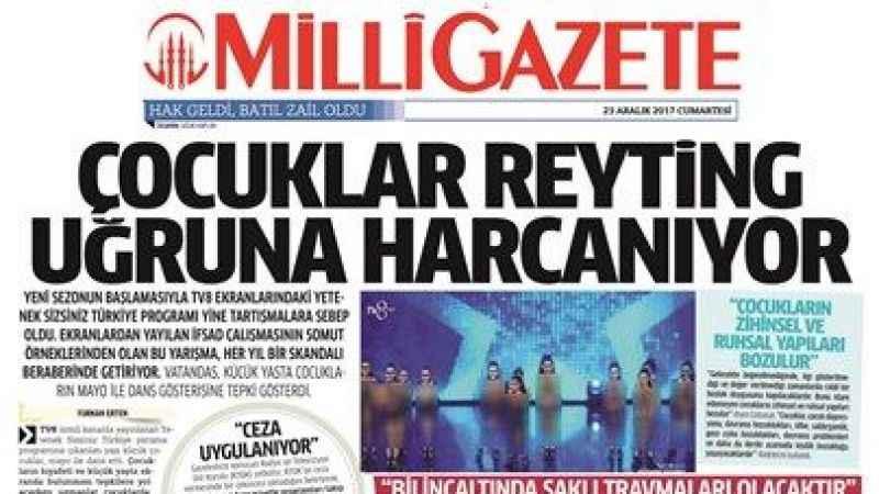 Millî Gazete gündeme getirdi RTÜK cezayı kesti