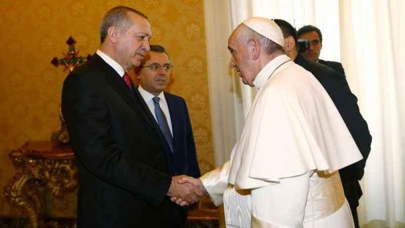 59 yıl sonra ilk! Cumhurbaşkanı Erdoğan Vatikan'da