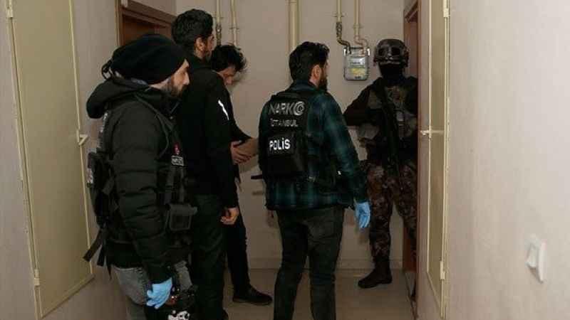 İstanbul'da uyuşturucu operasyonu! Gözaltılar var