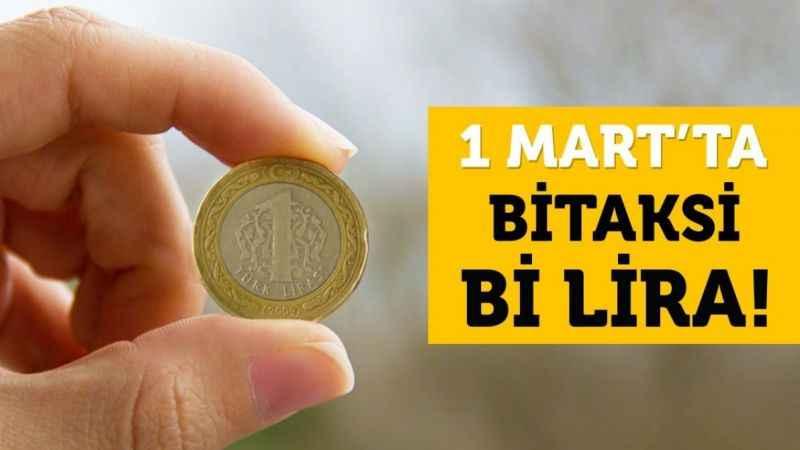 BiTaksi ile İstanbul'da taksiler yarın 1 Lira
