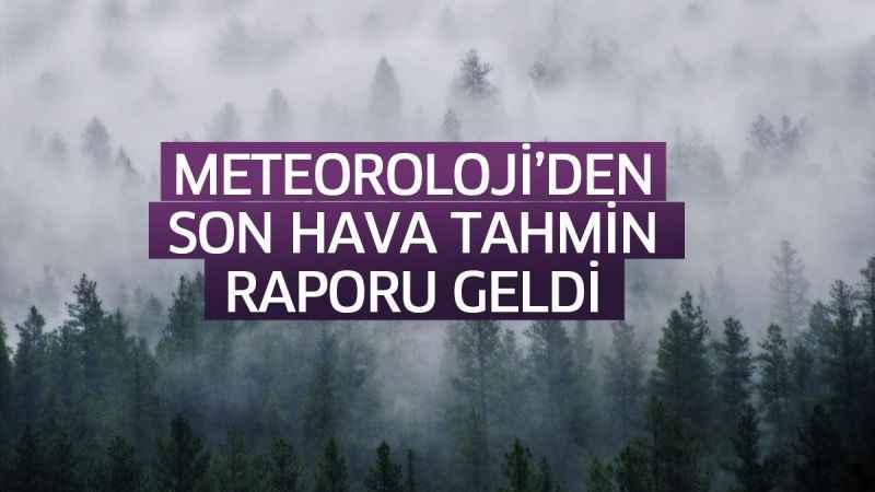 Meteoroloji hava durumu: Sıcaklık azalacak, sağanak yağış geliyor