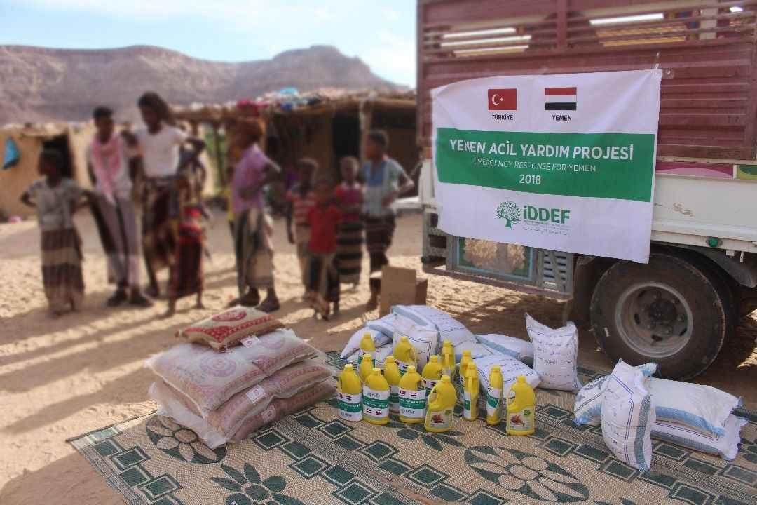 İDDEF yemen'de acil yardım çalışmalarına başladı