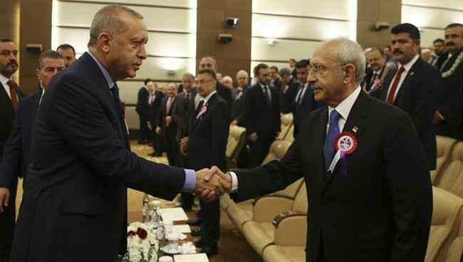 Cumhurbaşkanı Erdoğan ve Kılıçdaroğlu saldırı sonrası ilk kez görüştü