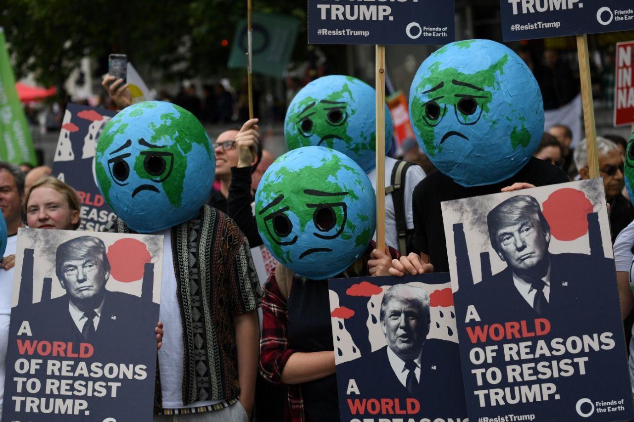 Londra'da Trump protestosu