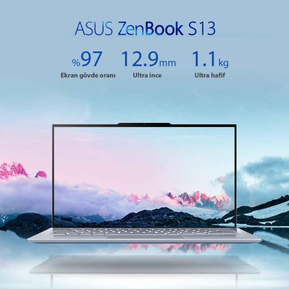 ASUS en ince çerçeveli bilgisayarı Zenbook S13'ü duyurdu