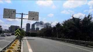 İstanbul Ümraniye'de 29 katlı binada yangın