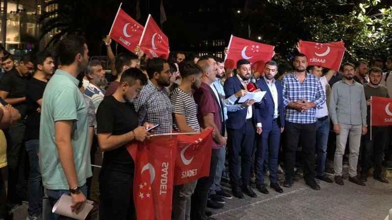 Saadetli gençlerden Kaz Dağları protestosu