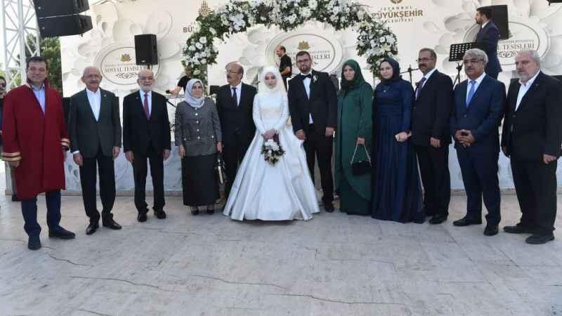 Karamollaoğlu ve Kılıçdaroğlu'ndan nikah şahitliği