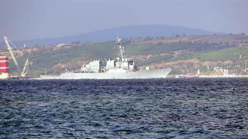 ABD savaş gemisi, Çanakkale Boğazı'na girdi ve  Marmara Denizi'ne gitt
