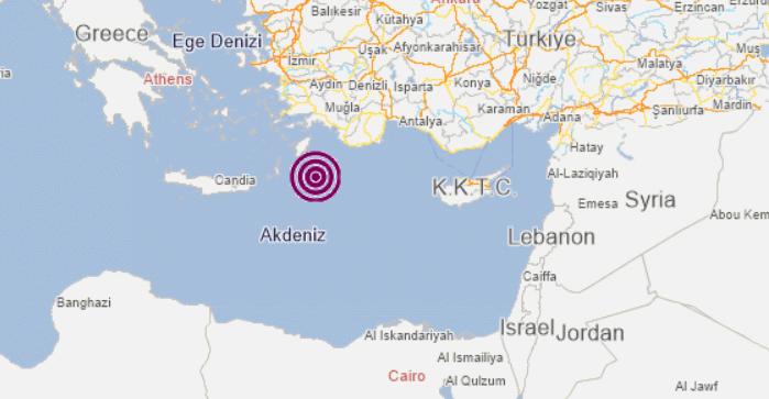 Son depremler: Akdeniz 3.7 büyüklüğünde deprem ile sallandı