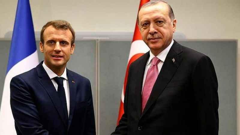 Cumhurbaşkanı Erdoğan ile Fransa Cumhurbaşkanı Macron görüştü