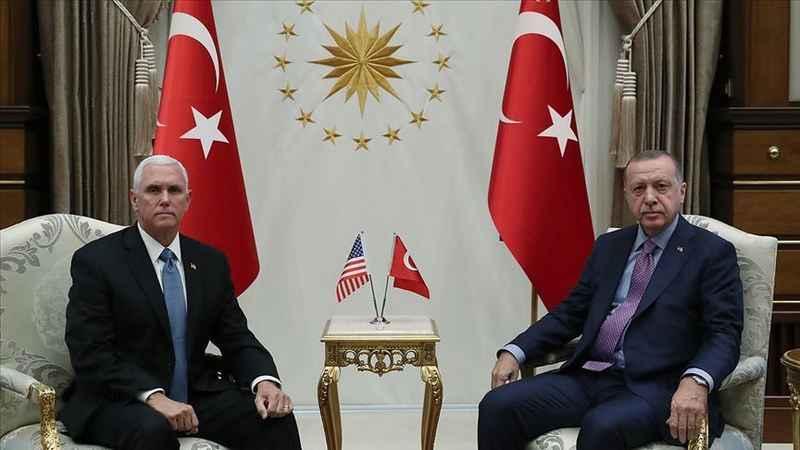 Cumhurbaşkanı Erdoğan, Pence'i Beştepe'de kabul etti