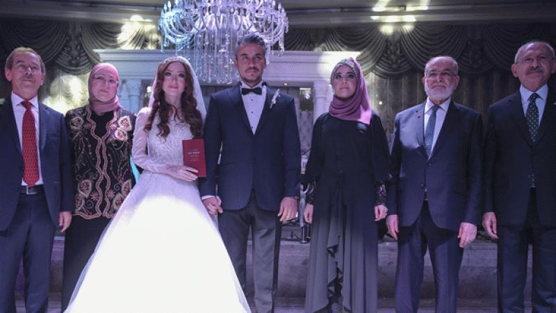 Karamollaoğlu ve Kılıçdaroğlu, Şener'in kızının nikah şahidi oldu