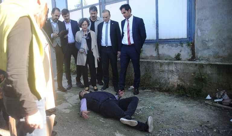 Rabia Naz'ın babası, olay yerinde canlandırma yaptı