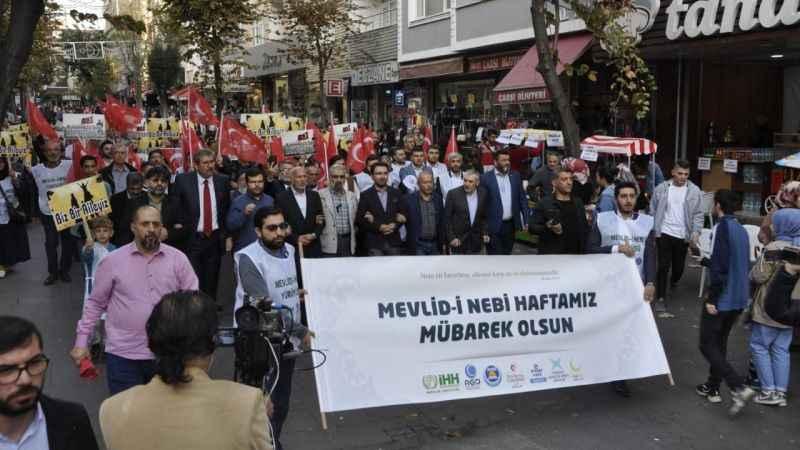 """Bağcılar'da """"Mevlid-i Nebi"""" yürüyüşü"""