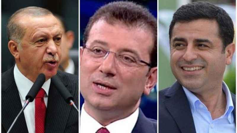 AKP'nin anketinde İmamoğlu ve Demirtaş sürprizi