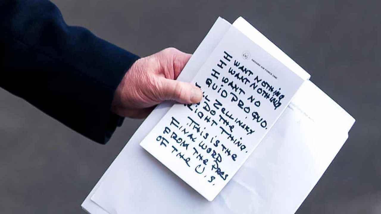 Trump'ın aldığı notlar ile ilgili görsel sonucu
