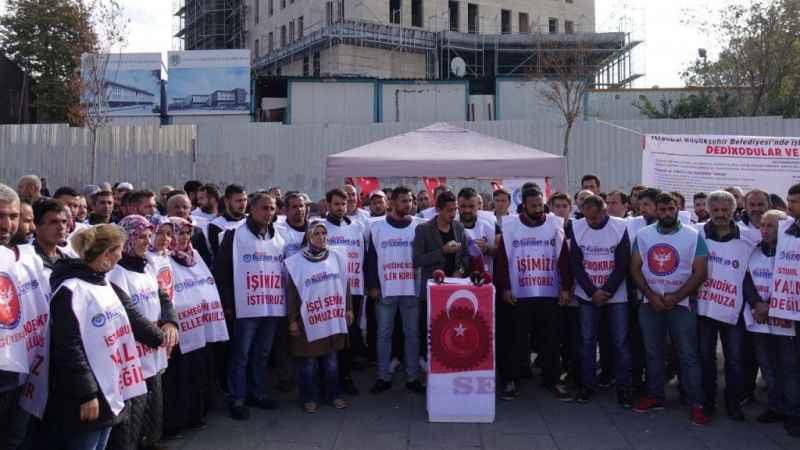 İBB'de işten çıkarılan işçilerden imza kampanyası