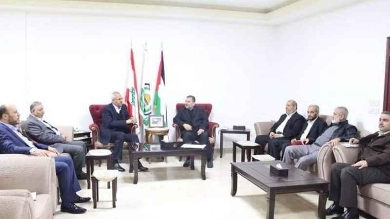 Hamas heyeti Beyrut'ta Filistinli grupların liderleriyle görüştü