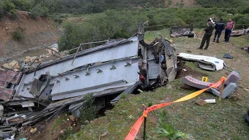 Tunus'taki otobüs kazasında ölü sayısı yükseldi