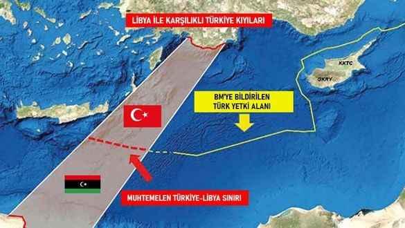 Libya ile yapılan anlaşma yeni bir haritaya sebebiyet vermiştir