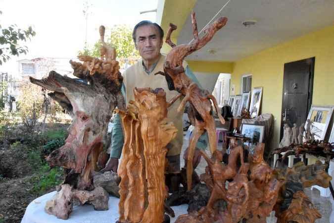27 yıldır ağaç köklerine şekil veriyor