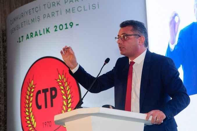 KKTC'de ana muhalefet cumhurbaşkanlığına Erhürman'ı aday gösterdi