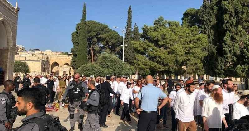 166 Yahudi işgalci Mescid-i Aksa'ya baskın düzenledi