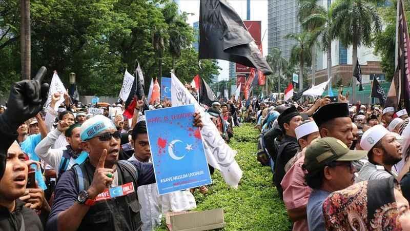 Endonezya'da Çin'e tepki: Müslüman Uygurlara yönelik soykırımı durdur
