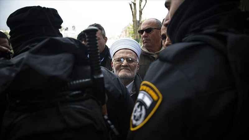 Siyonist İsrail'den Şeyh İkrime Sabri'ye Mescid-i Aksa'ya giriş yasağı