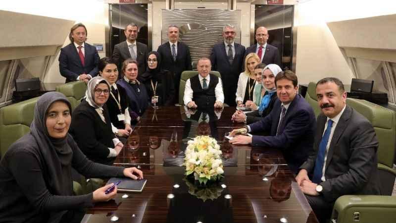 Erdoğan'ın uçağında dikkat çeken detay