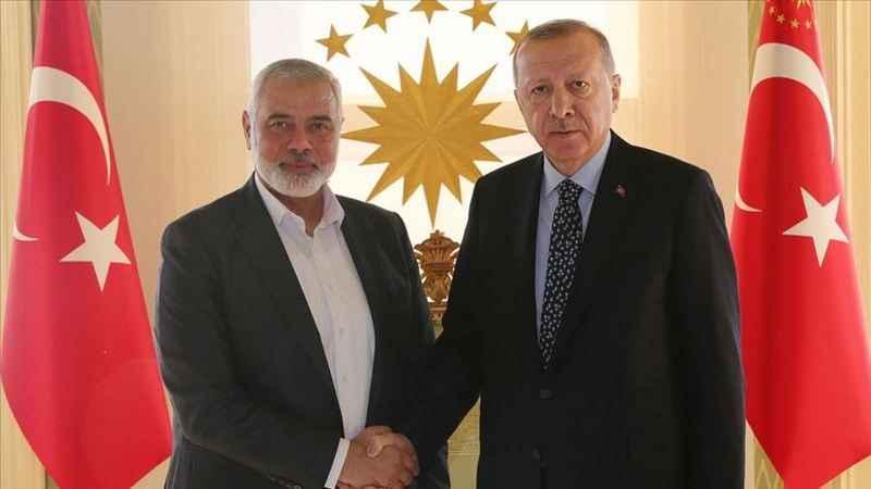 Erdoğan, Hamas lideri Heniyye ile görüştü