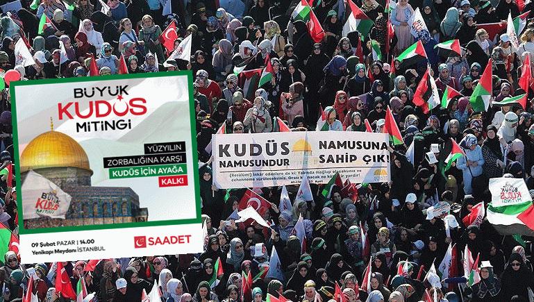 Miting hazırlıkları sürüyor! Zorbalığına karşı Kudüs için ayağa kalk