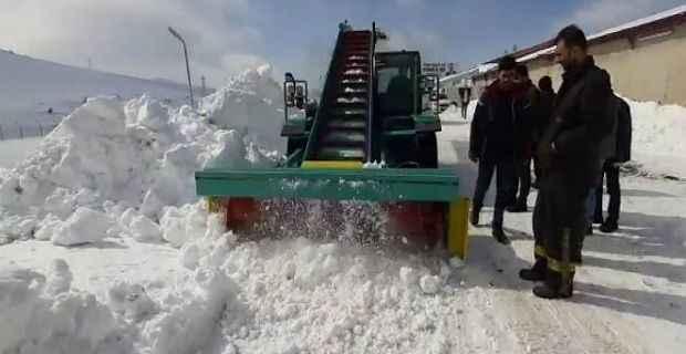 Bitlisli girişimciden yüzde 80'i yerli üretim kar küreme aracı
