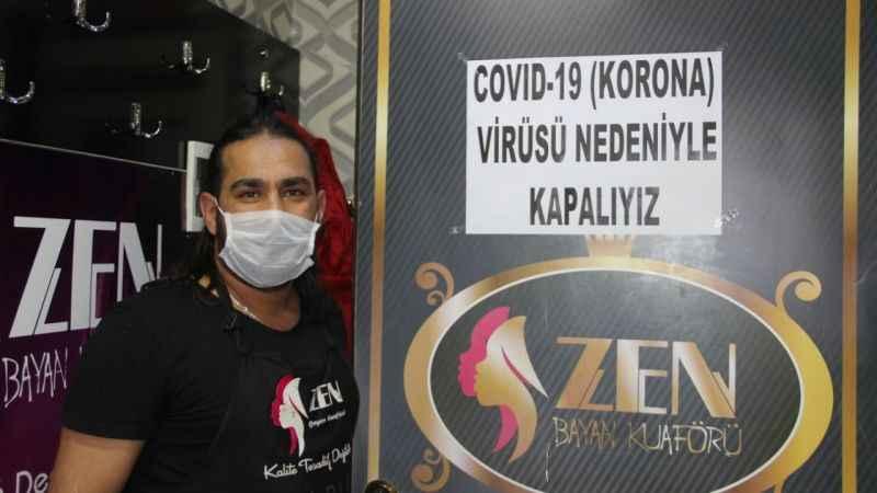 Erzurumlu kuaförler Koronavirüs'e karşı kepenk kapattı!