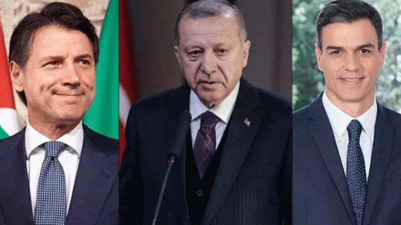 Cumhurbaşkanı Erdoğan'dan İspanya ve İtalya başbakanlarına mektup