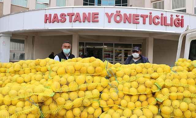 Nevşehir'de sağlık çalışanlarına 4 ton limon