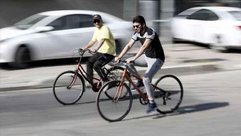 Erbil'de koronavirüs önlemleri halkı bisiklet kullanmaya teşvik etti