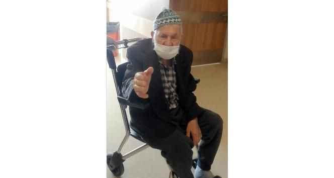89 yaşındaki Hüseyin Aktaş koronavirüsten iyileşti