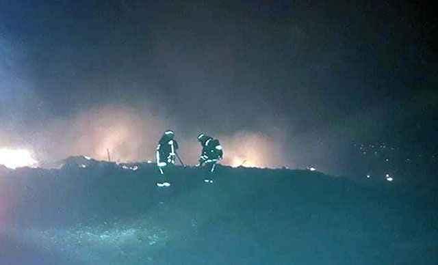 Finike'de orman yangını! 2 dönüm alan kül oldu