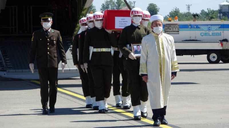 Şehit Uzman Onbaşı Ercan Zengin memleketi Samsun'da karşılandı!