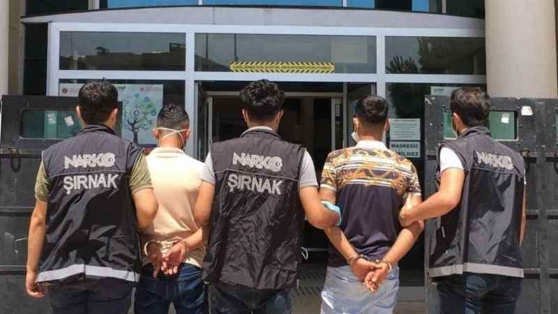 Şırnak'ta kaçakçılık operasyonu: 33 gözaltı