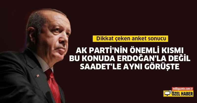AK Parti'nin önemli kısmı Erdoğan'la değil Saadet ile aynı görüşte