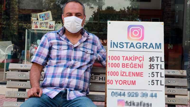 Sokakta tezgâh açtı, sosyal medya takipçisi satıyor!
